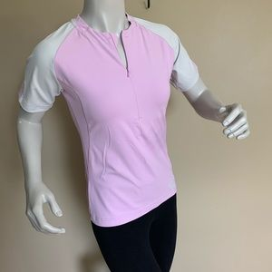 HELLY HANSON Pink White w/ Design Sports Top